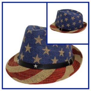 Patriot USA FLAG Stars & Stripes Fedora Panamá Hat